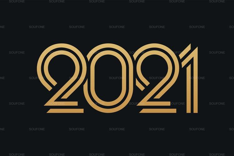3x 2021 Happy New Year EPS - SVG