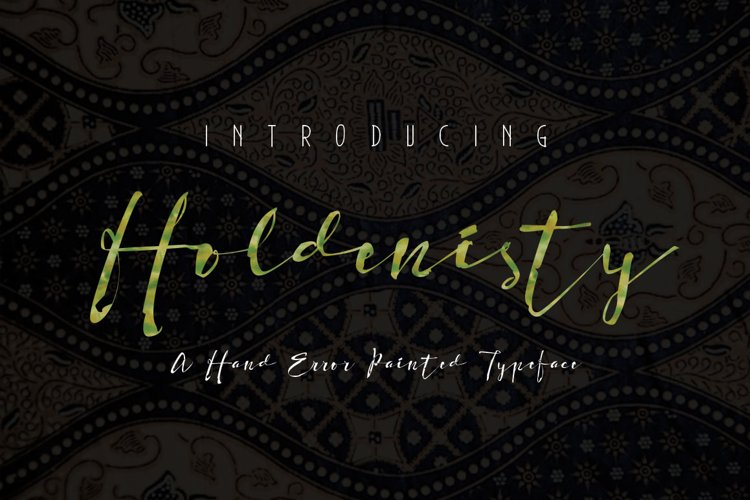 Holdenisty Typeface example image 1