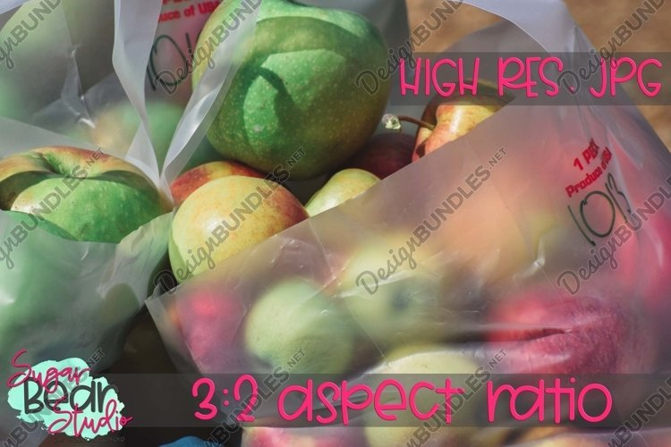 Apples in Bag - Stock Photo example image 1