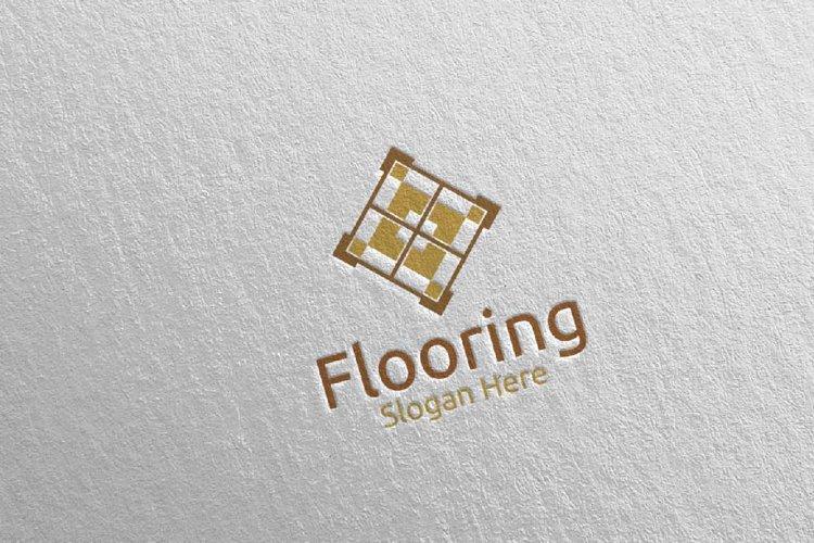 Flooring Parquet Wooden Logo 31 example image 1
