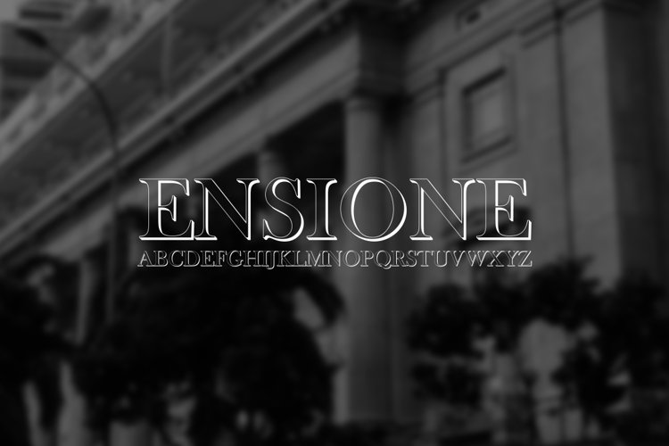 Ensione Font  example image 1