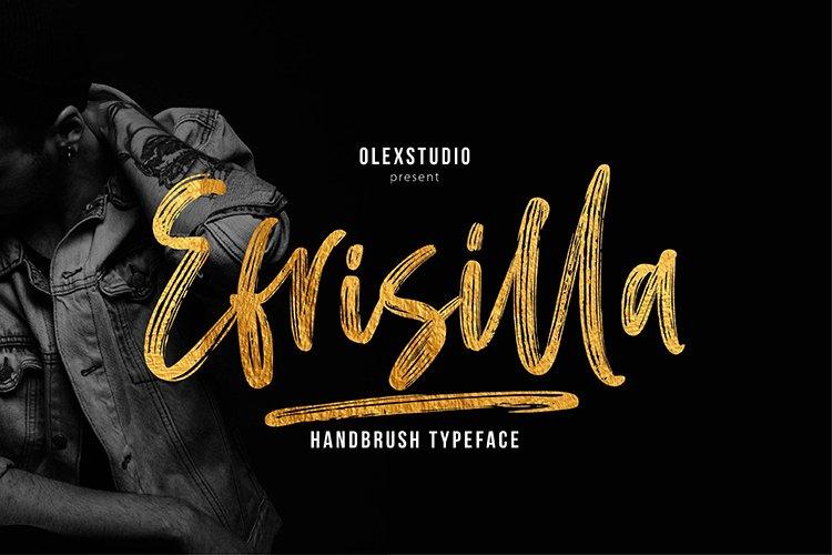 EFRISILLA - Handbrush Script example image 1
