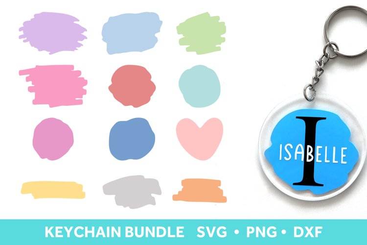 Brush Stroke SVG for Keychains, Paint Brush Stroke SVG