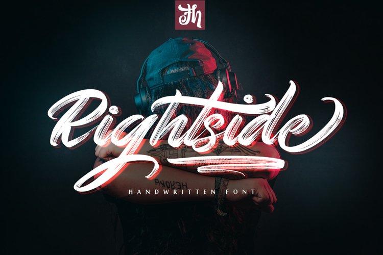 Rightside - Handwritten Font example image 1