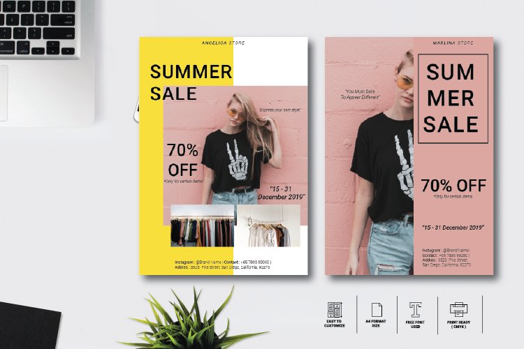 Summer Flyer Template Vol 12 example image 1