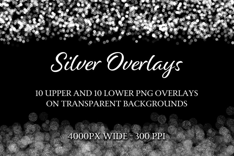 Silver Overlays - 10 Upper and 10 Lower PNG Overlays example image 1