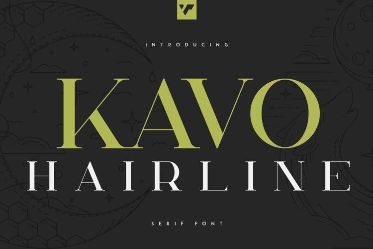 Kavo Serif Hairline example image 1