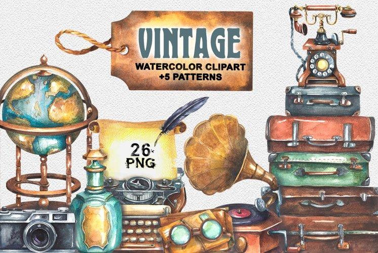 Vintage Watercolor Clipart