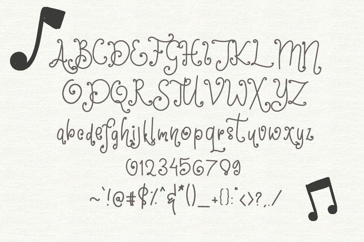 Saxophone - Quirky Handwritten Font example 1