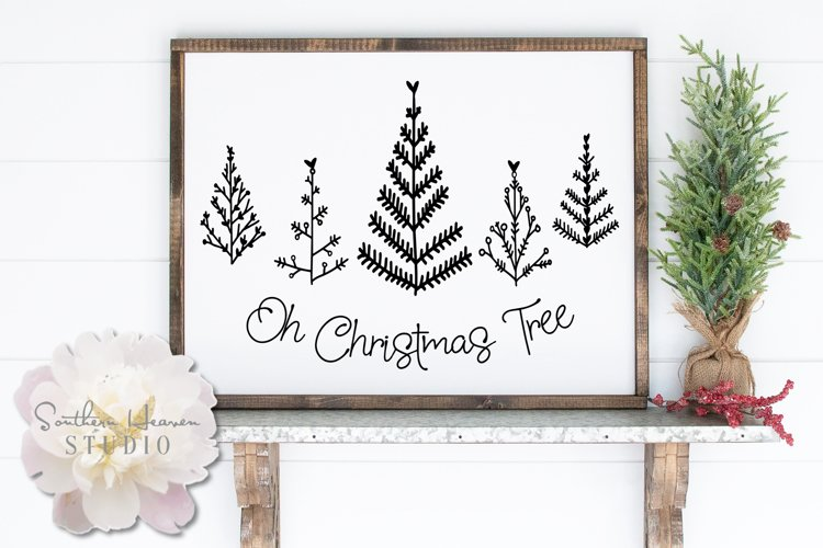 OH CHRISTMAS TREE - SVG, PNG, DXF and EPS