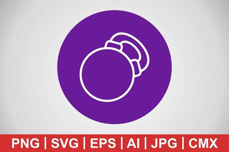 Vector Kettlebell Icon example image 1