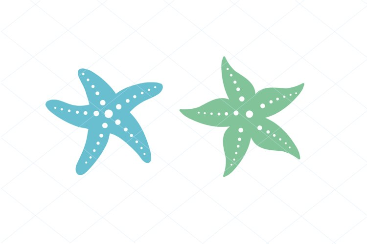 Cute Starfish SVG PNG Digital File Clipart Traceable example image 1