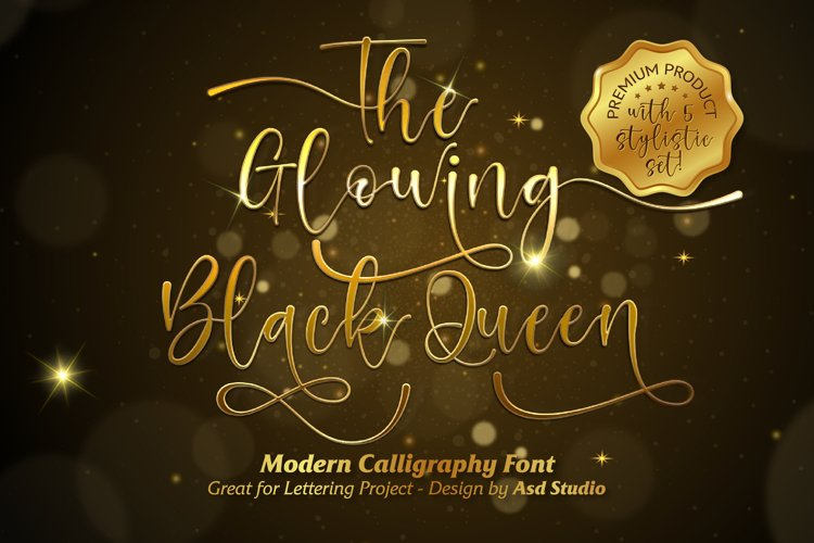The Glowing Black Queen example image 1