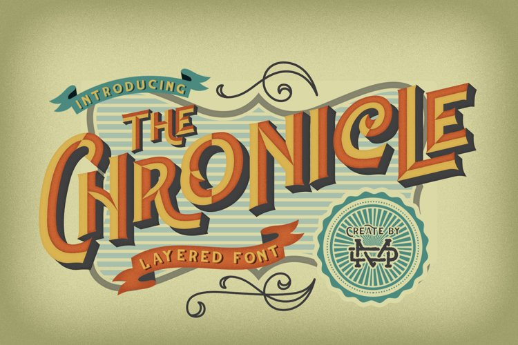 The Chronicle - Layered Typeface example image 1