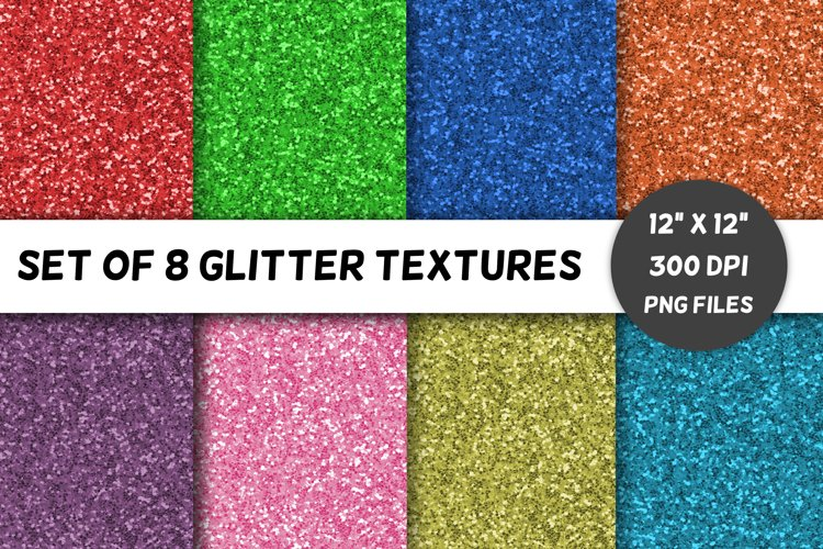 Glitter Backgrounds / Textures / Paper / Brights / Volume 1