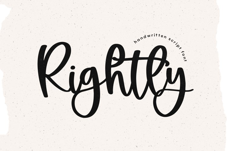 Rightly - A Handwritten Script Font example image 1