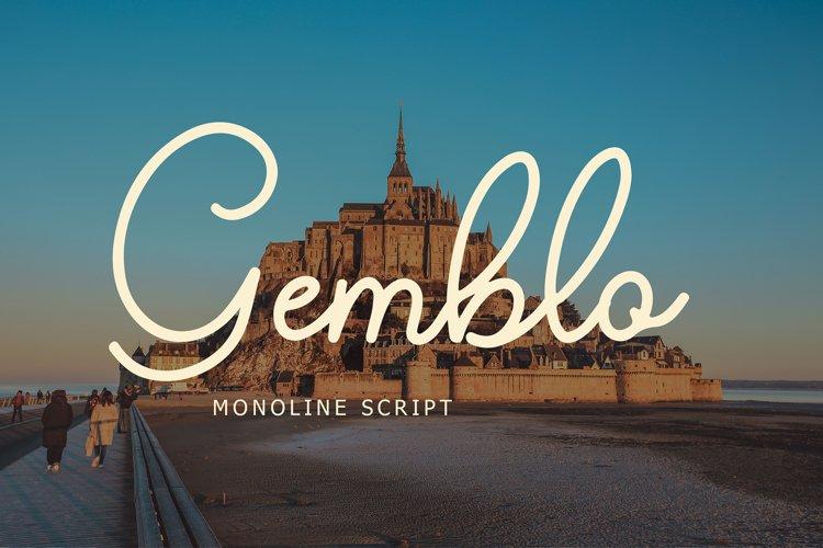 Gemblo Calligraphy Monoline Font example image 1