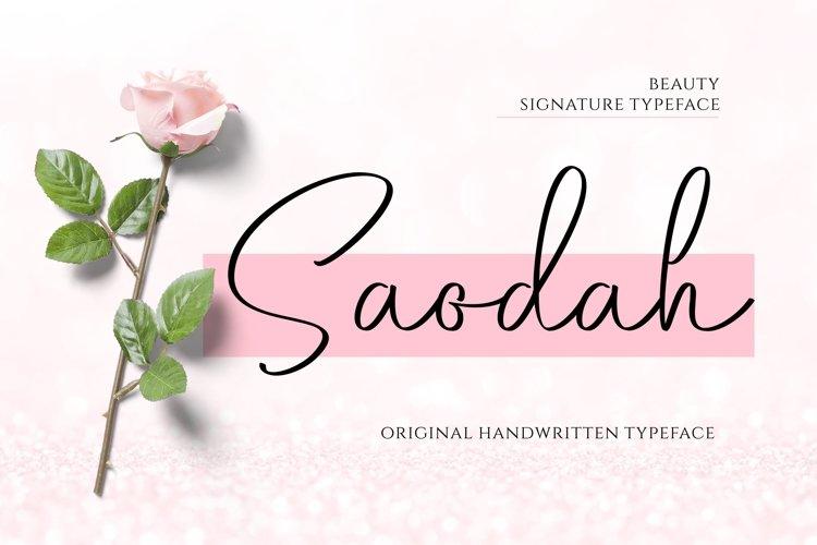 Saodah - Beautiful Signature Typeface example image 1