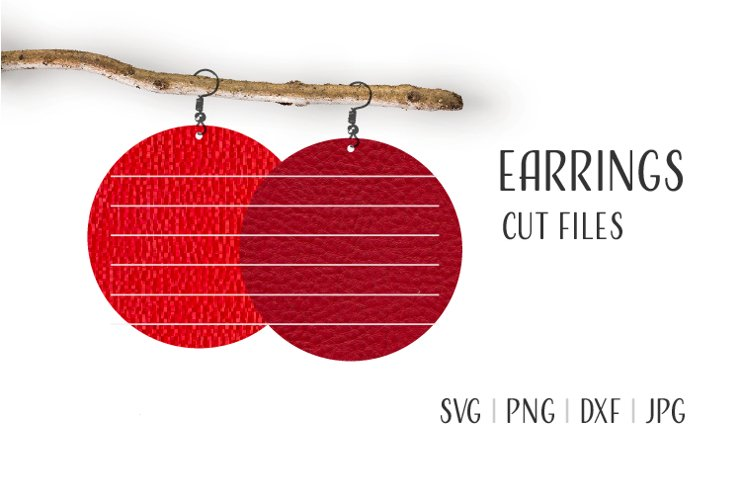 Round Earrings Svg, Earrings Svg example image 1