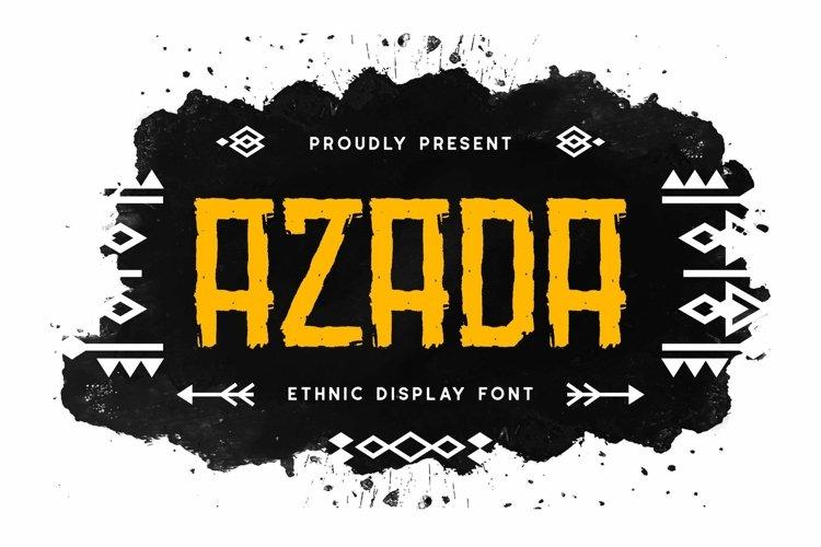 Web Font Azada Display Brush Font example image 1
