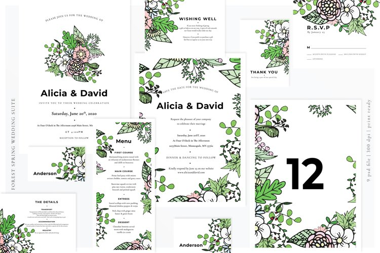 Forest Spring Wedding Suite example image 1