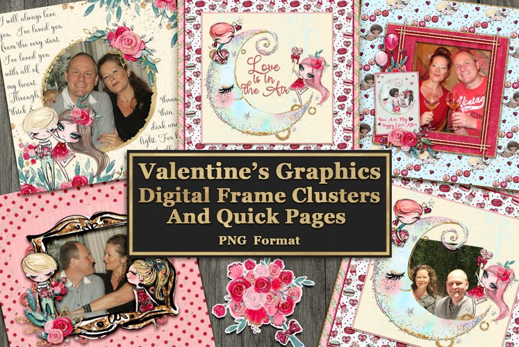 Valentine Frame Clusters and Quick Pages example image 1