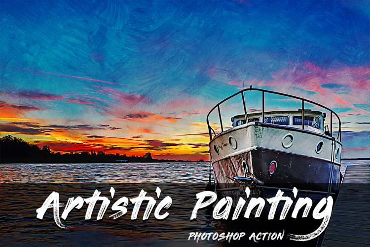 Artistic Painting Photoshop Action example image 1