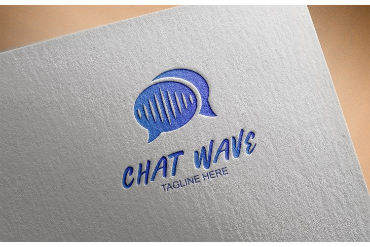 Chat Wave Logo example image 1