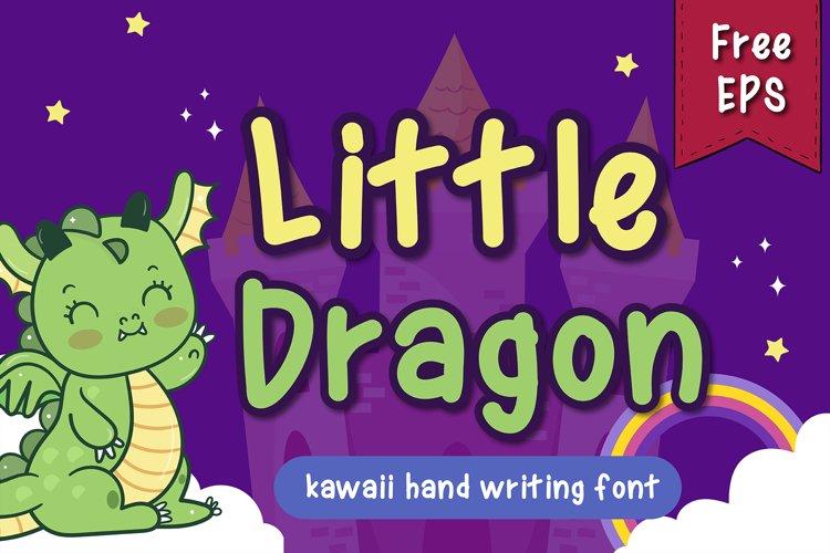 Little Dragon handwritten kawaii style example image 1