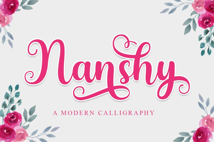 Nanshy - A Modern Calligraphy Font example image 1