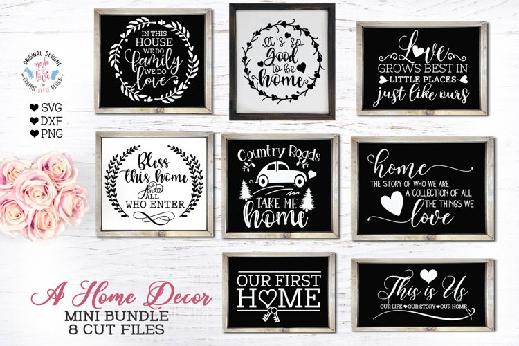 Home Sign Cut Files and Sublimation Bundle example image 1