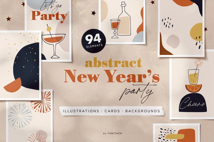 Abstract New Years party set