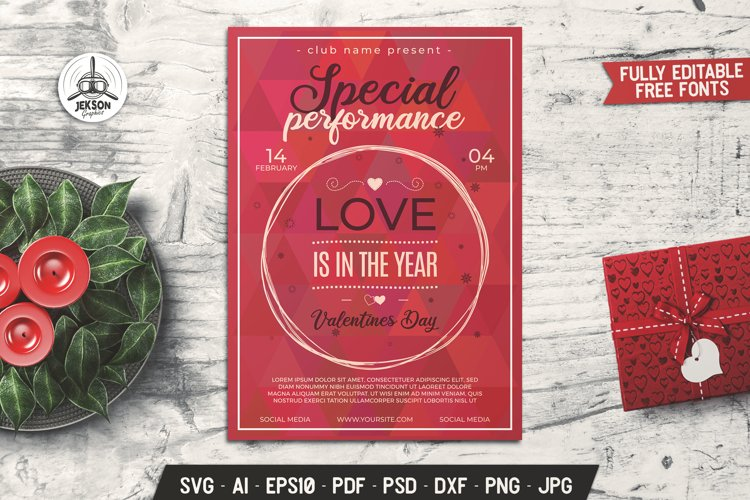 Download Valentines Svg Card Party Flyer Event Print Template Dxf Png 1106321 Card And Invites Design Bundles