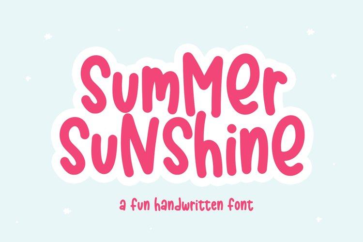 Summer Sunshine - A Fun Handwritten Font example image 1