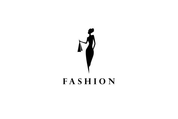 Fashion logo, women silhouette