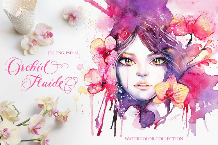 Orchid Fluide Watercolor Collection example image 1
