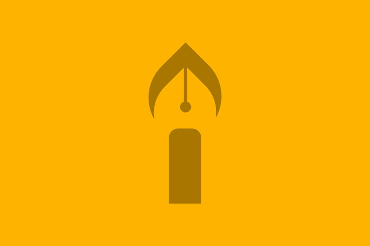 Candle write logo symbol template - Eps 10 example image 1