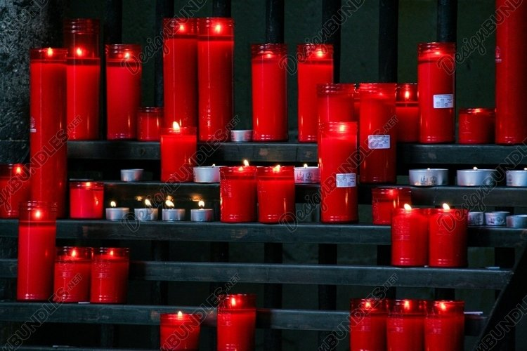 Stock Photo - Lighted Candles example image 1
