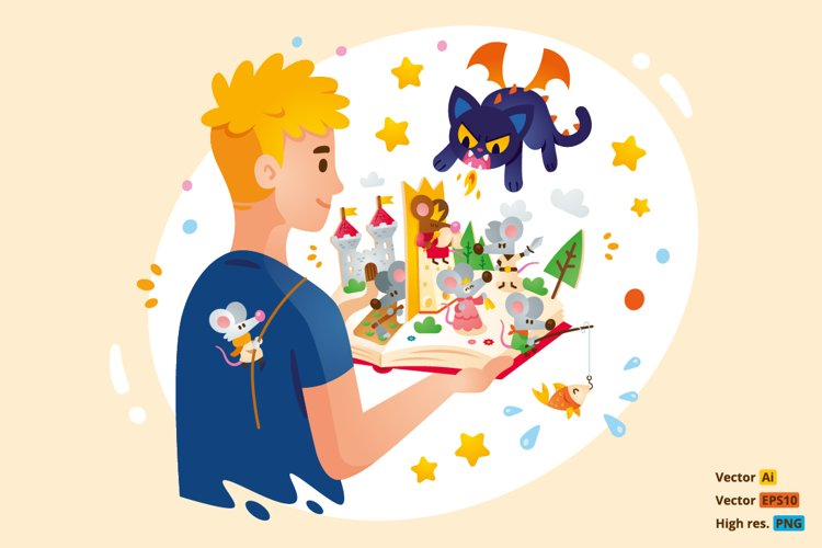 Fantasy Children Book Illustration