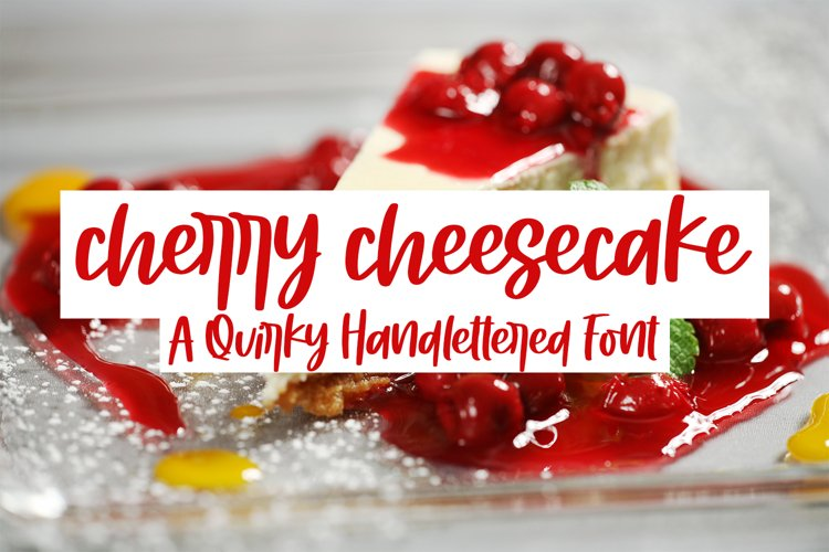 Cherry Cheesecake - A Quirky Handlettered Font example image 1