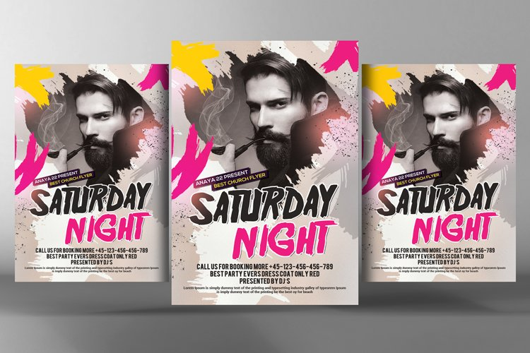 Dance Music DJ Flyer Template example image 1