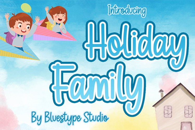 Holiday Family - Playful Display Font example image 1