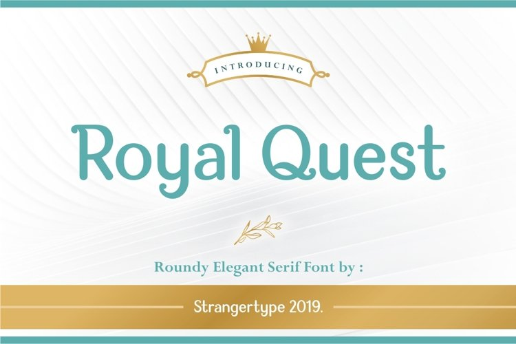 Royal Quest - Logo Font example image 1