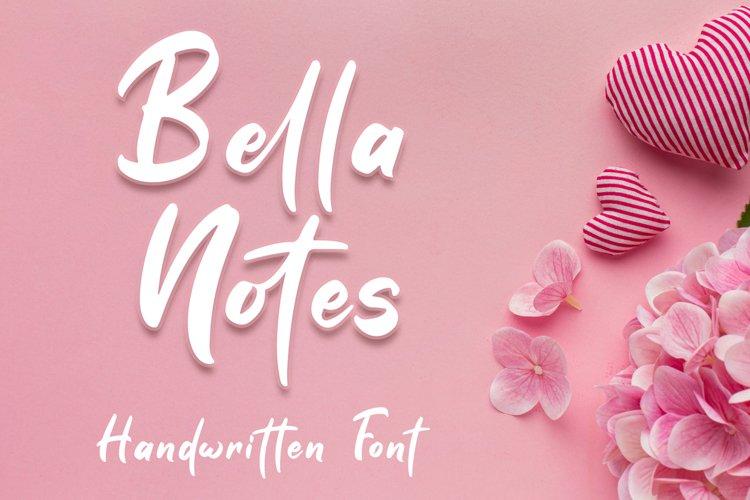Bella Notes - Handwritten Font example image 1
