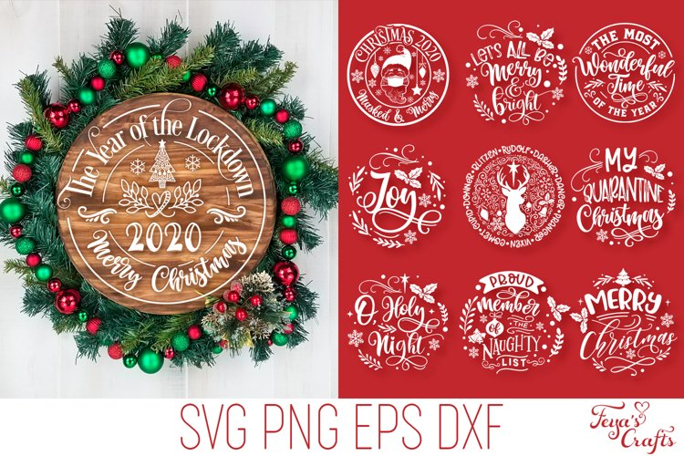 Round Christmas Ornaments SVG Pack | Round Sign SVG Cricut