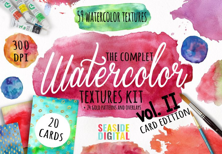 Watercolor Textures - card edition example image 1