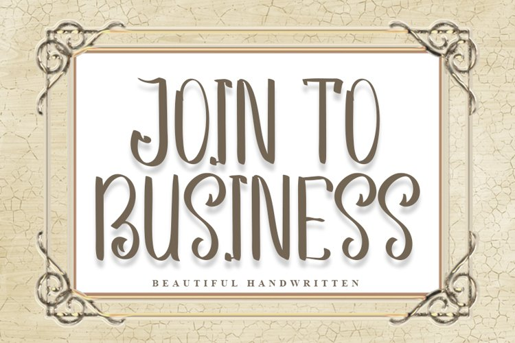 Join to Business | Beautiful Handwritten Font example image 1
