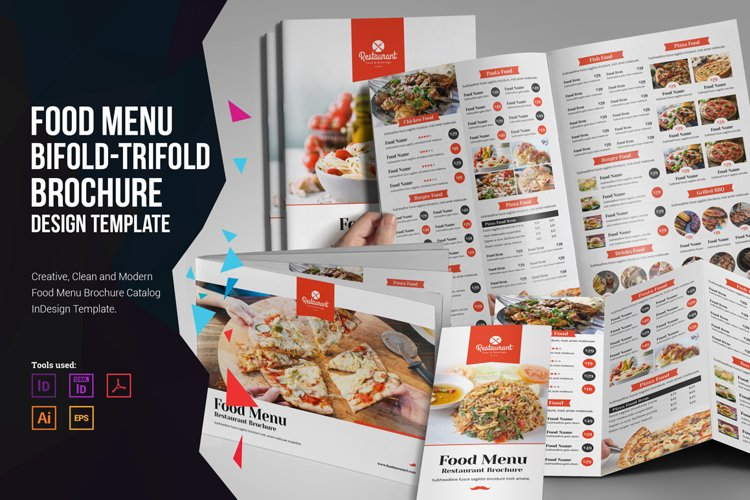 Food Menu Bifold-Trifold Brochure example image 1