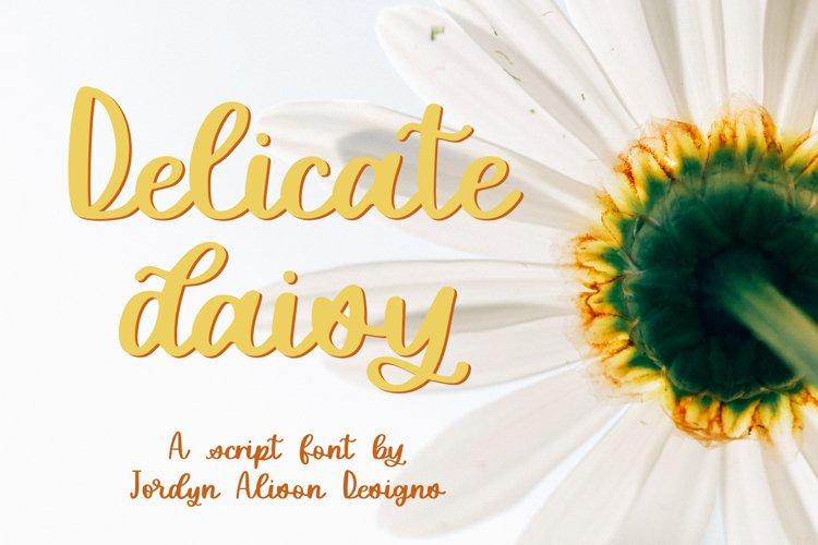 Delicate Daisy, Smooth Script Font