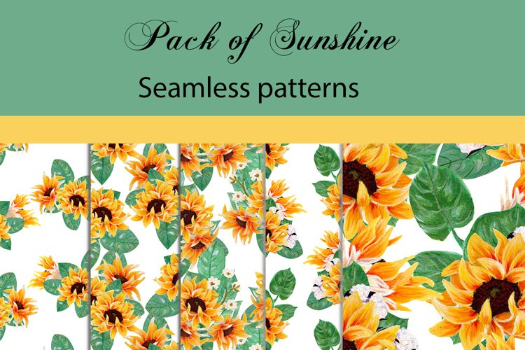 Pack of sunshine- sunflower patterns example image 1
